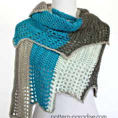Blue Ridge Wrap: FREE crochet pattern
