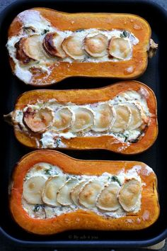 Butternut farcie lardons et chèvre - Recette facile Butternut stuffed with bacon and goat cheese Batch Cooking, Easy Cooking, Healthy Cooking, Food Porn, Easy Vegetarian Lunch, Relleno, Food Videos, Food Inspiration, Coco