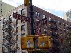 Greenwich Village, NYC...Bleecker street is awesome (tiny restaurants, bakeries, souvenir shops). April 2009.