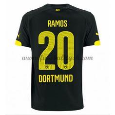 Bundesliga Fussball Trikots BVB Borussia Dortmund 2016-17 Ramos 20 Auswärtstrikot Kurzarm