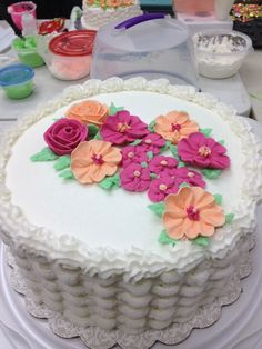 Michaels Cake Decorating Class Sterling Va : ideas for wilton course 1 final cakes - Google Search ...