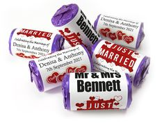 Wedding Favours - Love Heart Sweets with Colour Foil choices - Wedding Favours Love Hearts, Wedding Favour Sweets, Wedding Favors, Mint Sweets, Love Heart Sweets, Marry You, One Design, Special Day, Choices
