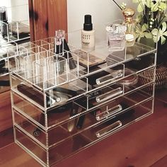 Ikee Design Large Clear Acrylic Jewelry And Cosmetic Storage Display Boxes #IkeeDesign