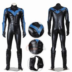 Item Number:gmarc002, Find High Quality Nightwing Costume Batman:Arkham City Cosplay Dick Grayson Full Set in our shop. You will get the best price!