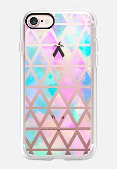Casetify iPhone 7 Classic Grip Case - New standard Pastel Aztec watercolor by Marta Olga Klara #Casetify
