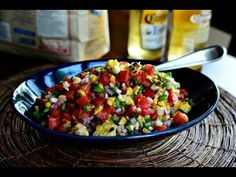Grilled Corn Pico de Gallo #recipes #food #cook #cooking #cooking_room