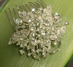 Vintage Bride Antique Clear Rhinestone 1940s Hair Comb, Heirloom Bridal OOAK Haircomb Old Hollywood Glam on Etsy, $42.50