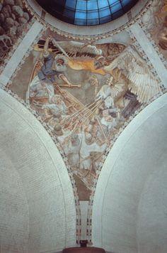 National museum of Finland, Kalevala fresko by Gallen-Kallela
