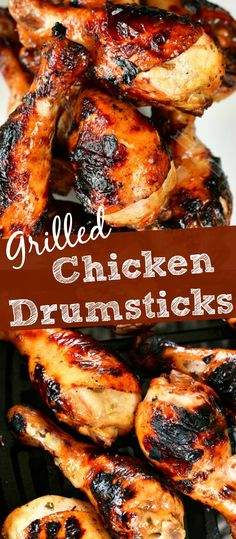 Simply marinated chicken legs in delicious chicken marinade and grilled to a juicy perfection. As an added bonus, use the marinade as a sauce to brush into the chicken. #chicken #legs #drumsticks #chickenmarinade #grilled Grilled Chicken Drumsticks, Grilled Chicken Legs, Foil Baked Chicken, Best Chicken Marinade, Chicken Marinades, Marinated Chicken, Grilled Sausage, Chicken Kabob Recipes, Chicken Skillet Recipes