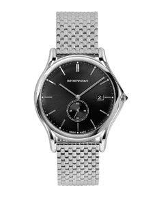 Emporio Armani Swiss Made Quartz Watch with Bracelet, Steel Armani Men, Emporio Armani, Stainless Steel Bracelet, Luxury Watches, Quartz Watch, Neiman Marcus, Bracelet Watch, Watches For Men, Bracelets