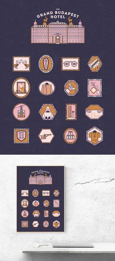 The Grand Budapest Hotel Icon Series on Behance