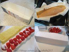 牛乳パックでスクエアケーキ・その2・レシピ ちょっとの工夫でかわいいケーキ