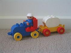 duplo traktor mit milchanhänger