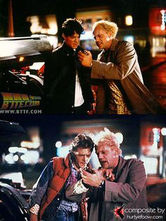 Eric Stoltz & Michael J. Fox Side-By-Side in Back to the Future