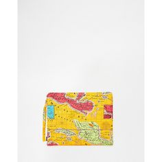 Echo Pouch Clutch Bag With Map of Mexico ($17) ❤ liked on Polyvore featuring bags, handbags, clutches, coral, echo handbags, echo purses, white purse, pattern purse and pouch handbag