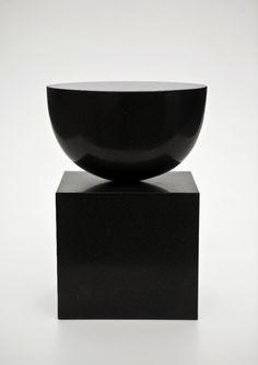 "Danish-born artist Sys Svinding (b. 1960) ""Stille Rejse"", 2011. Diabas (black Swedish Granite)"