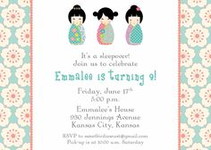 Japanese Themed Party Invitation By Style My Party Www - Birthday invitation in japanese
