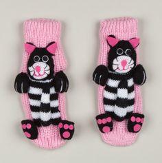 Adorable Non-Slip 'Cat' Socks for Little Girls.