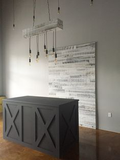 Our point of sale counter and accent wall! :-)