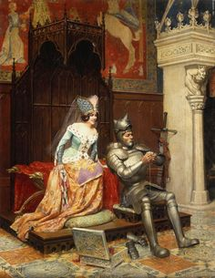 'An Arthurian Legend' by Jean Louis Ernest Meissonier....Arthur checking troop movements on his iPhone.