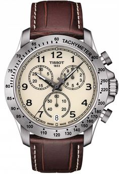 @tissot  Watch V8 #add-content #basel-16 #bezel-fixed #bracelet-strap-leather #brand-tissot #case-depth-12mm #case-material-steel #case-width-43mm #chronograph-yes #date-yes #delivery-timescale-1-2-weeks #dial-colour-cream #gender-mens #luxury #movement-quartz-battery #new-product-yes #official-stockist-for-tissot-watches #packaging-tissot-watch-packaging #style-sports #subcat-t-sport #supplier-model-no-t1064171626200 #warranty-tissot-official-2-year-guarantee #water-resistant-100m