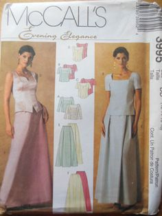 Sewing Pattern McCall`s Misses Elegant Evening Wedding Dress Wardrobe OOP UC   eBay