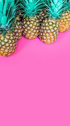 Pineapple with pink background very pretty wallpaper