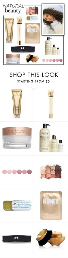 """Natural Beauty"" by roseforbes ❤ liked on Polyvore featuring beauty, Elizabeth Arden, Yves Saint Laurent, Charlotte Tilbury, philosophy, Deborah Lippmann, tarte, Lapcos, Under Armour and Beauty"