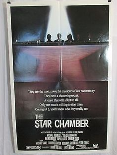 The Star Chamber 1983 Movie Poster Michael Douglas Hal Holbrook Sharon Gless