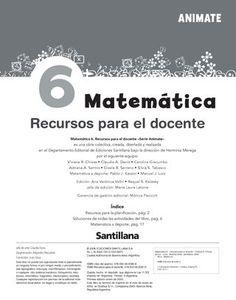 Animate Matemática 6  Orientaciones didácticas para el uso del libro