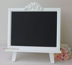 Large Chalkboard With Easel - Wedding Chalkboard - Children's Chalkboard…