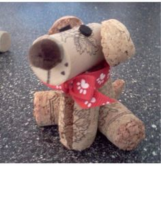 Adorable re-purposed wine cork dog! Ruff ruff...