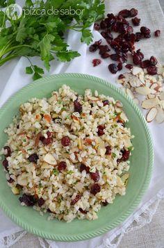 Cocina – Recetas y Consejos Rice Recipes, Veggie Recipes, Mexican Food Recipes, Vegetarian Recipes, Snack Recipes, Healthy Recipes, Ethnic Recipes, Healthy Rice, Healthy Meal Prep