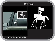 Drill Team Horse and Flag Decal