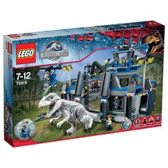 Lots of action with this LEGO Indominus rex Breakout 75919 set. The LEGO Indominus rex has broken out of the impound. Zach is inside the gyrosphere launched from the pen wall and now he's under attack. Direct the hunt for the rampaging beast from the impound's research tower. Set off in hot pursuit in the helicopter evading the dinosaur's snapping jaws and swiping claws. You must get that dangerous dino safely back in the pen before it causes serious damage.