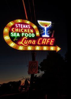 """""""Luna Cafe, on Illinois Route 66"""" by Pete Zarria on flickr"""