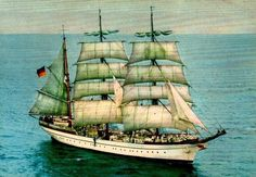 "the ""Gorch Fock"" from Germany.,"