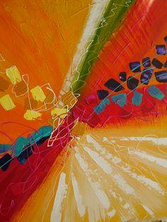 """DEANNA KIENAST """"Bloom"""" Acrylic on Canvas, 36"""" x 30"""""""