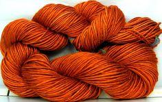 HandSpun Yarn bamboo Pumpkin new autumn color Custom by kittygrrlz, $30.00