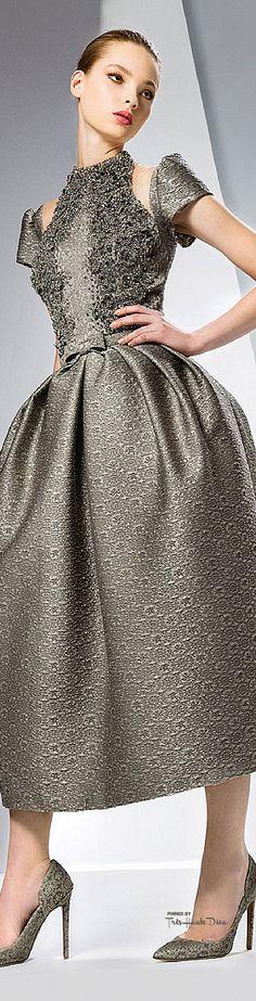 Cocktail dress / karen cox.  Georges Hobeika Fall 2015 RTW ♔THD♔