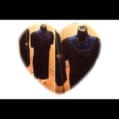 Selling this Little black beaded dress in my Poshmark closet! My username is: edwardswife. #shopmycloset #poshmark #fashion #shopping #style #forsale #Dresses & Skirts