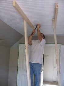 Beadboard panel ceilings for the kitchen...yes!!!