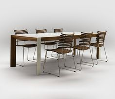 cool dining chairs | ... Dining Table White Table Cool Chair Simple Design White Floors Modern