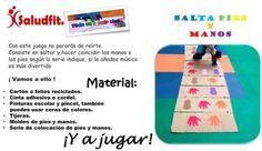 1. Dibuja en el folio o cartón el molde de las manos y/o pies. Beach Mat, Outdoor Blanket, House 2, Duct Tape, Recycled Materials, Adhesive, Hands, Exercises, Games