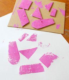 5 Easy Art Projects: Cardboard Prints
