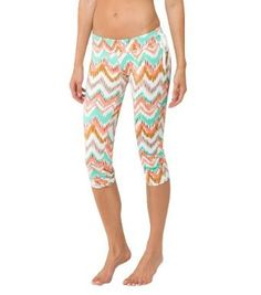 ONeill Juniors Camarillo Capri Surf Legging Crop Top Size Medium Color  Multi Colored    Visit 83cbcbf44bc