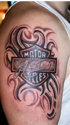 Tribal Harley-Davidson tattoo shared by our fan Hommie V.