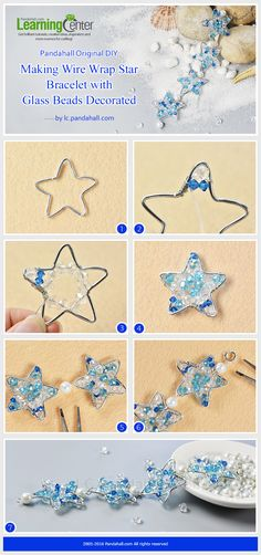 Pandahall Original DIY – Making Wire Wrap Star Bracelet with Glass Beads Decorated from LC.Pandahall.com