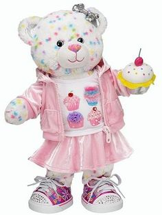 I Heart Cupcakes Confetti Cupcake Bear - Build-A-Bear Workshop Build A Bear Outfits, Build A Bear Clothes, Matilda, Custom Teddy Bear, Bear Shop, Birthday Images, 10 Birthday, Sock Animals, Cute Teddy Bears