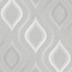 I Love Wallpaper Glisten Wave Wallpaper Silver - Wallpaper from I Love Wallpaper UK Vinyl Wallpaper, Waves Wallpaper, Trellis Wallpaper, Wallpaper Samples, Pattern Wallpaper, Wallpaper Lounge, Graphic Wallpaper, Wallpaper Ideas, Geometric Embossed Wallpaper